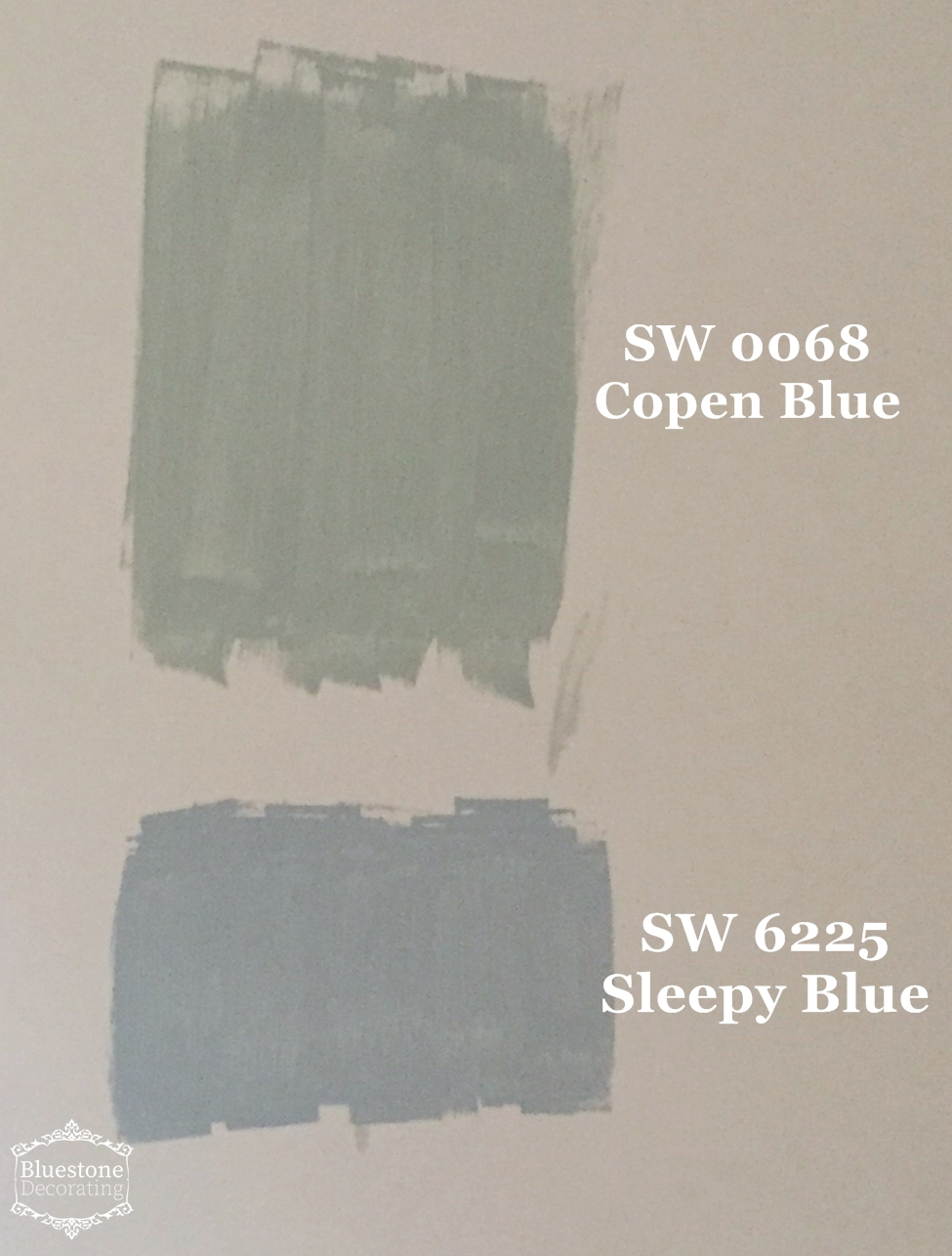 Color consultation before master bedroom test sherwin williams 0068 copen blue 6225 sleepy blue bluestone decorating by crystal ortiz